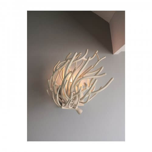 coral wall sconces, pair