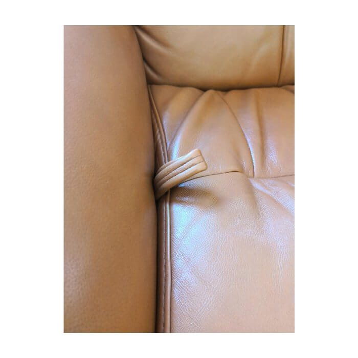 IMG Norway leather recliner and footstool