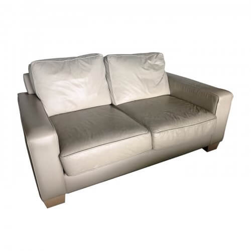 Jardan Sofa, 2 seater inc ream leather, second hand