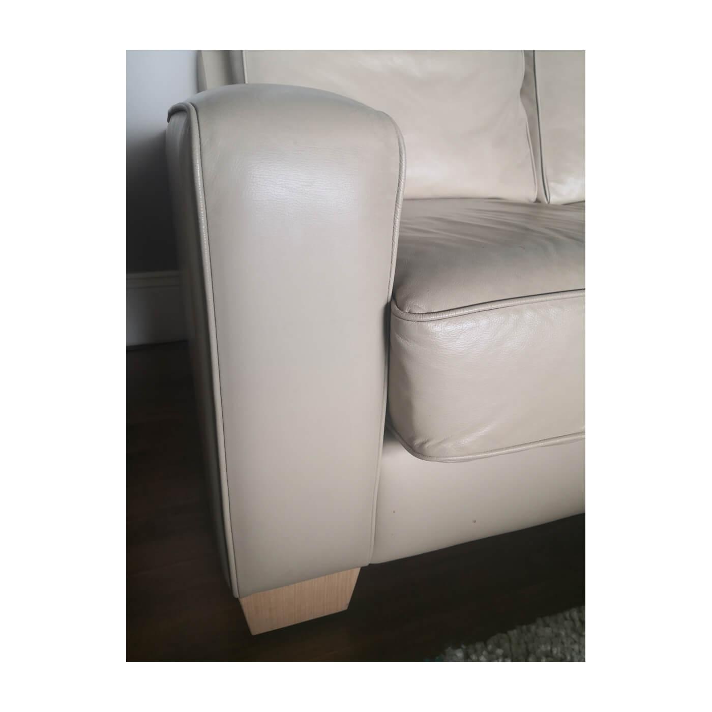 Jardan Sofa, 2 seater inc ream leather, second hand