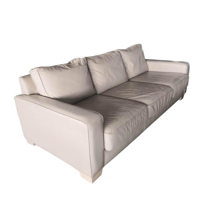 Jardan Sofa, 3 seater inc ream leather, second hand