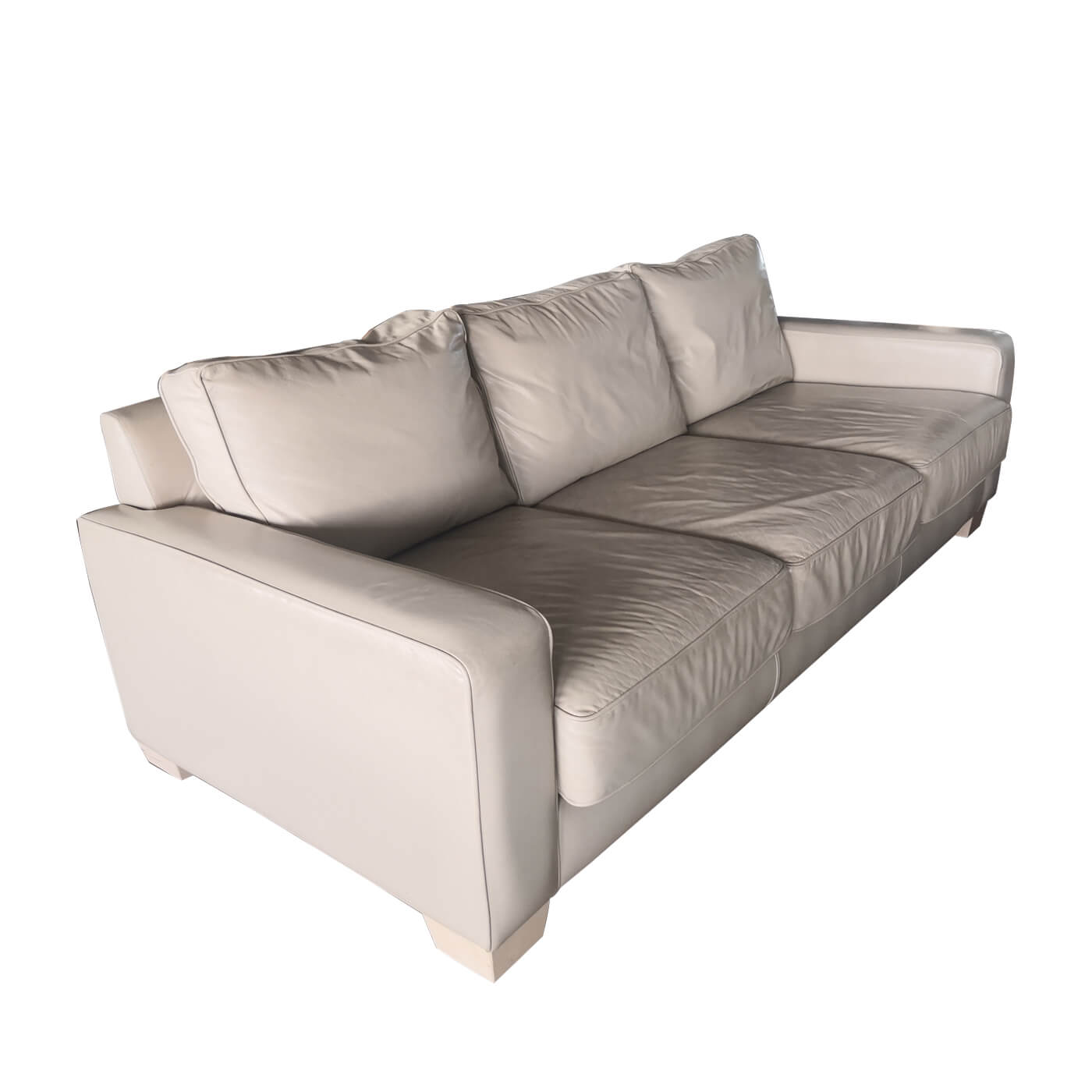 Jardan Sofa, 3 seater inc ream leather, second hand