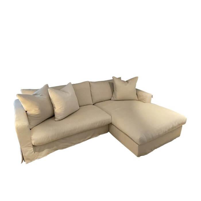 Jardan sofa with chaise, cream fabric