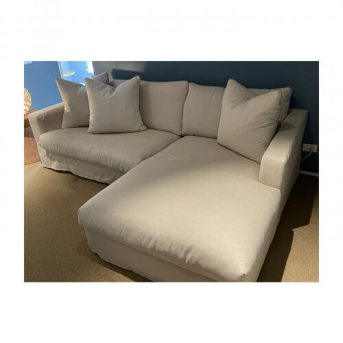 Jardan sofa with chaise, cream fabric