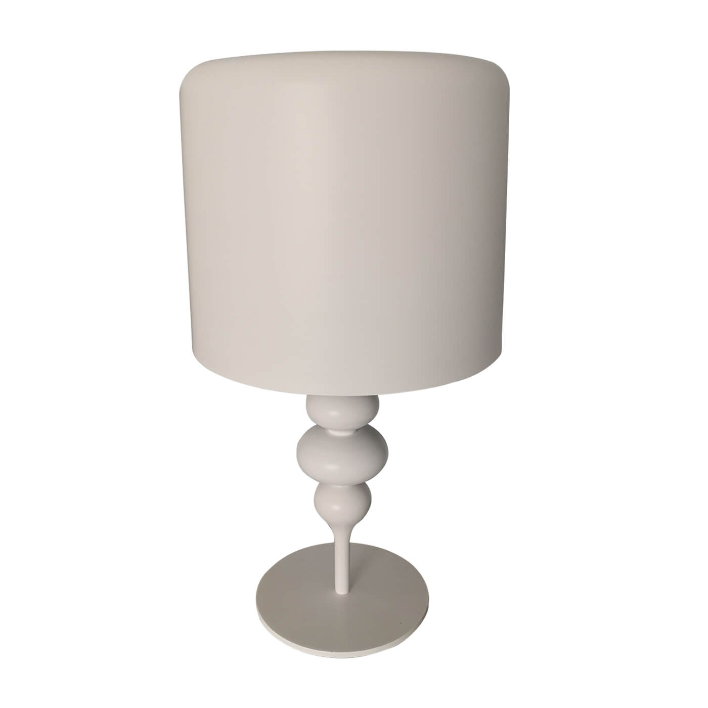 Fanuli Drop white metal table lamps, pair, second hand