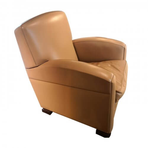 Poltrona Frau Tabarin leather armchair
