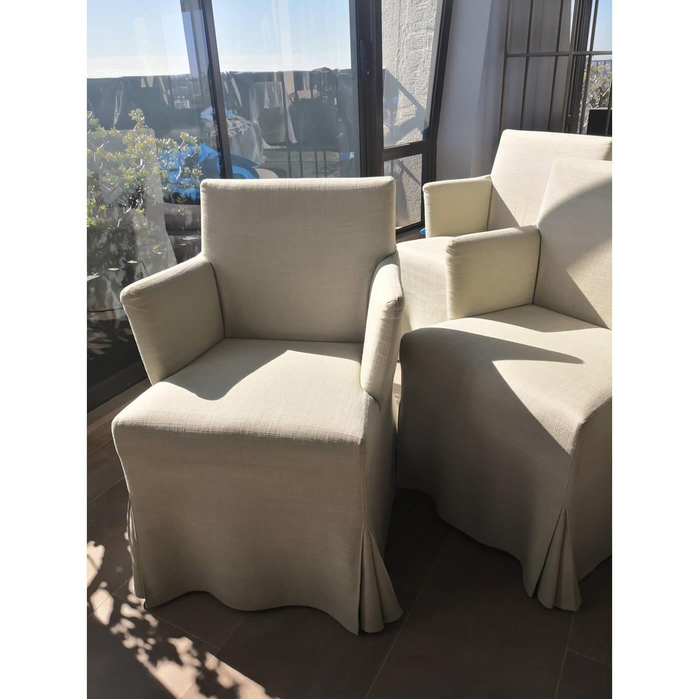 B&B Italia Maxalto Peplo dining chairs