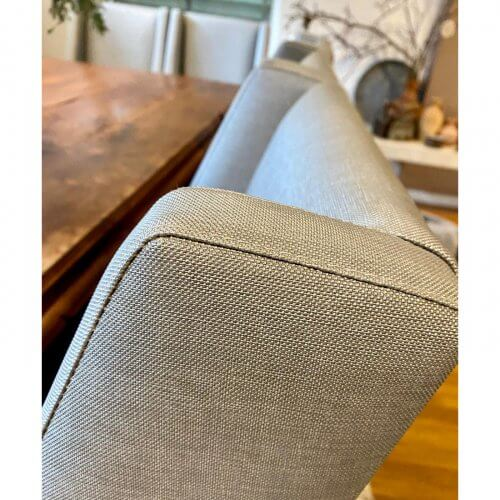 Two Design Lovers custom Hamptons style upholstered dining chairs
