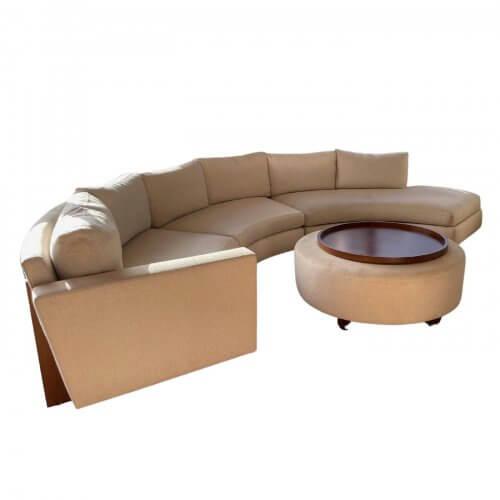 Thayer Coggin Clip curved sofa