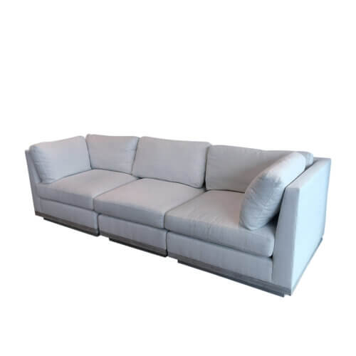Cream modular 3 seater sofa