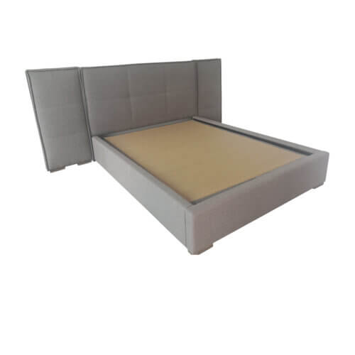 Max Sparrow Hyde upholstered queen bed with side panels