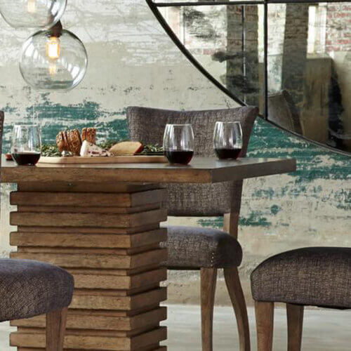 Max Sparrow Murphy square wood dining table