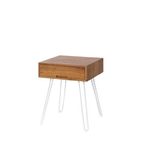 Reddie Vinnie Bedside table white legs