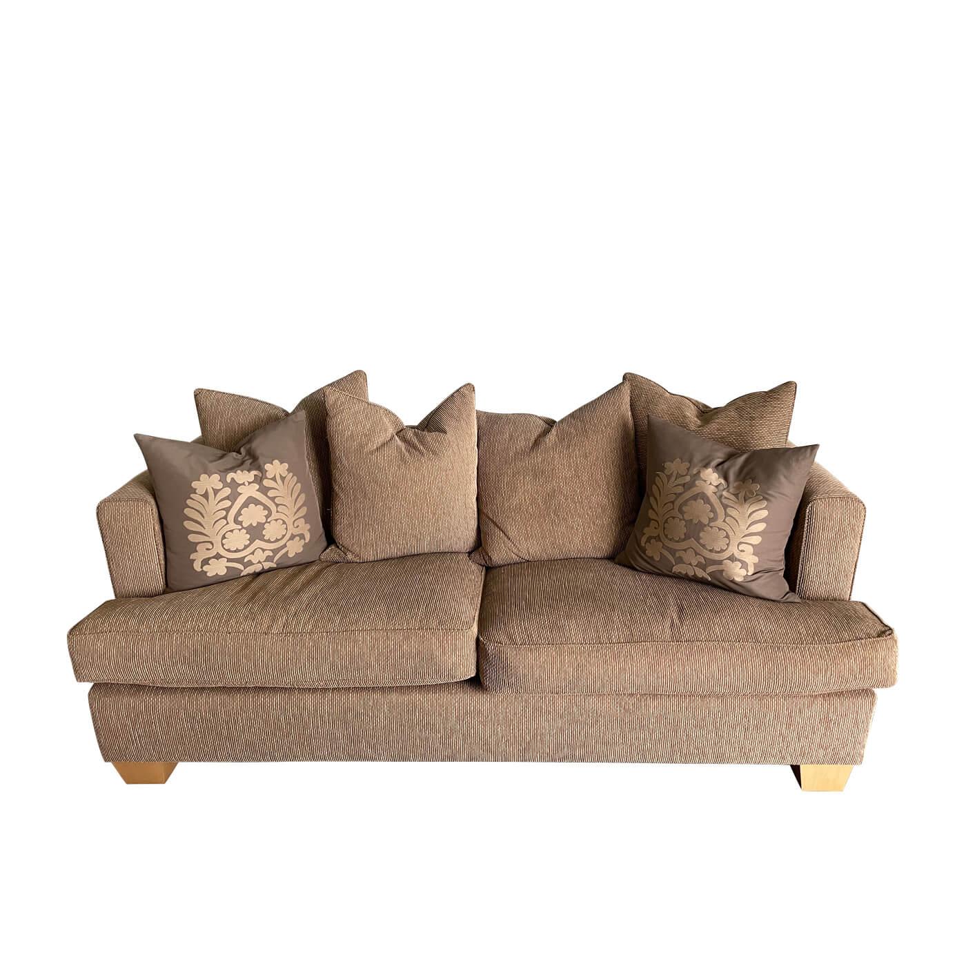 Custom 2.5 seater sofa with cushions