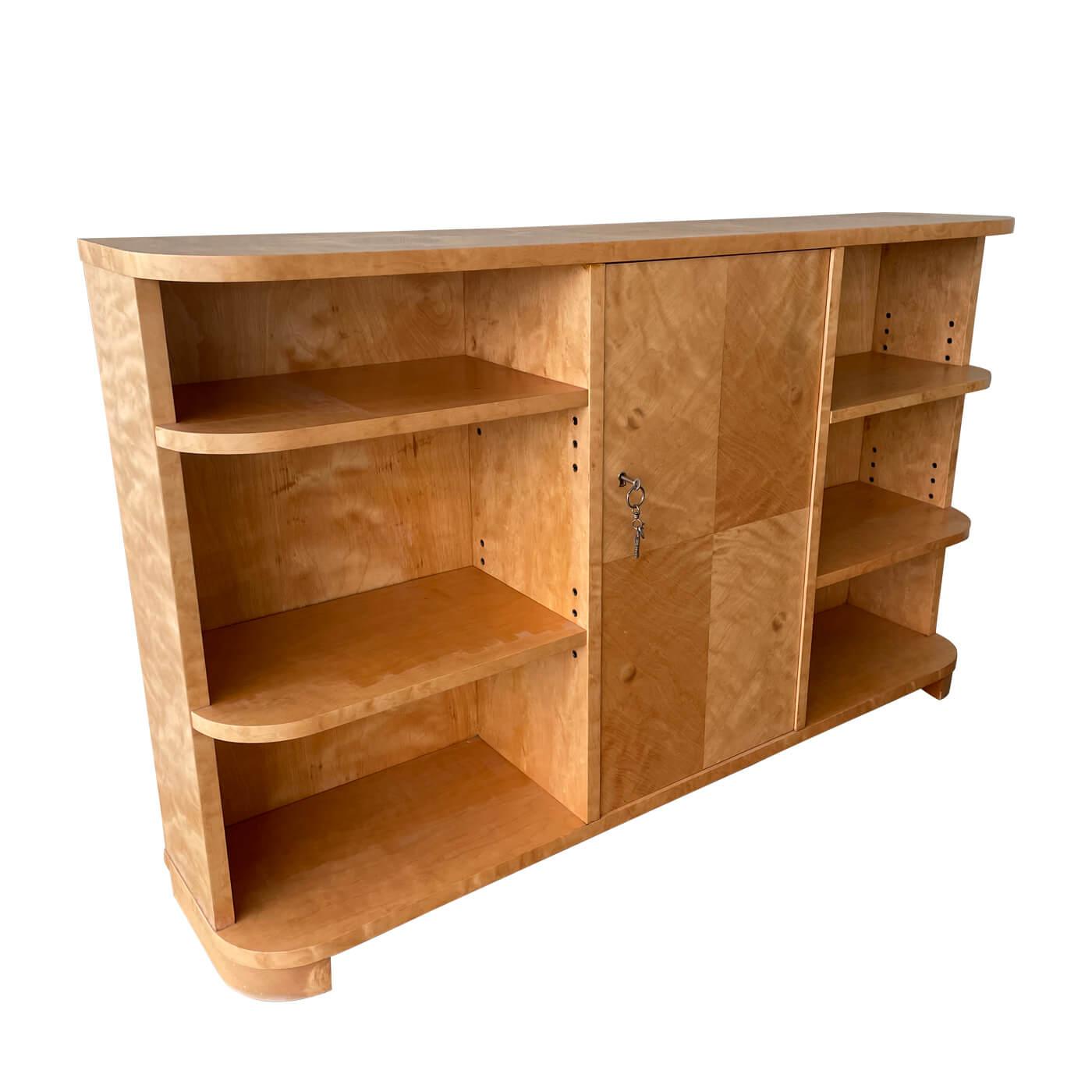 Burl maple bookshelf