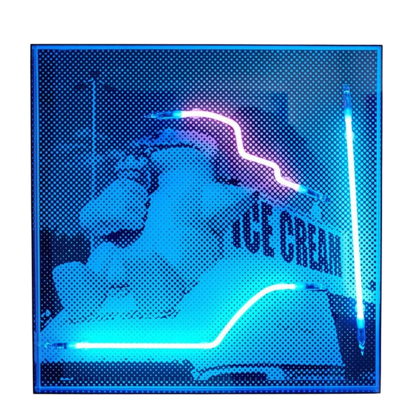 Tom Adair neon art work Polar Cones 2018